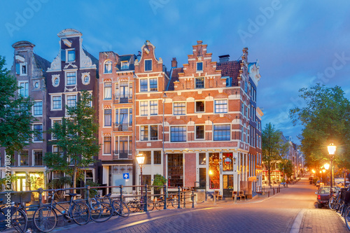Photo  Amsterdam. City street early in the morning.