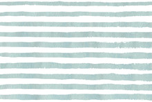 Watercolor Light Blue Stripe Grunge Pattern.