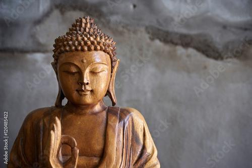 Wooden buddha statue Wallpaper Mural