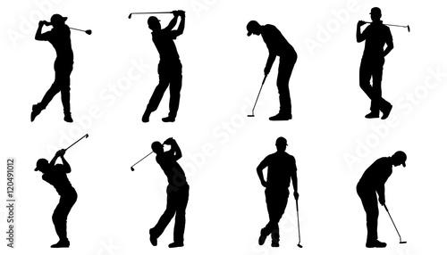 golf silhouettes Fototapete