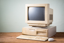 Old And Obsolete Computer On O...