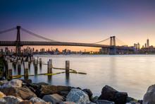 Williamsburg Bridge And Brokklyn Industrial Zone