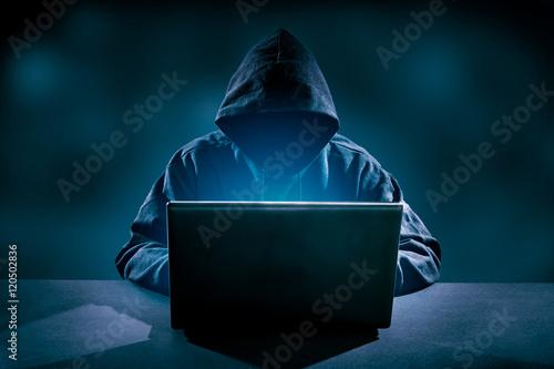 Fotografía  Computer crime concept.