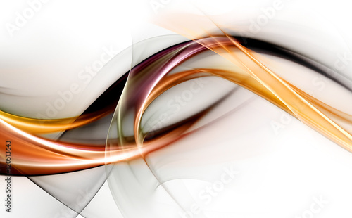Fotobehang Fractal waves Elegant abstract design for your awesome ideas