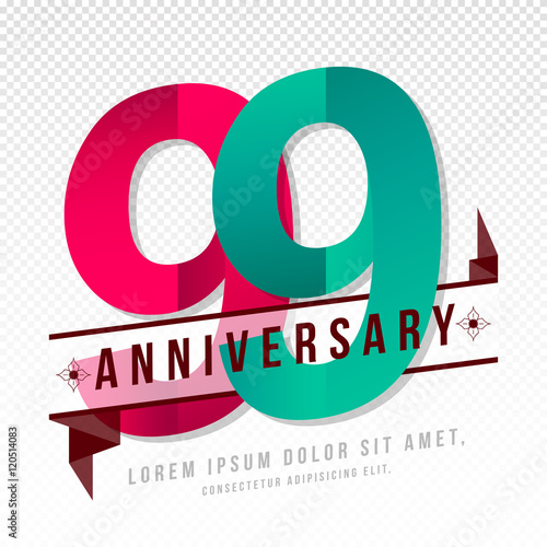 Photographie  Anniversary emblems template design