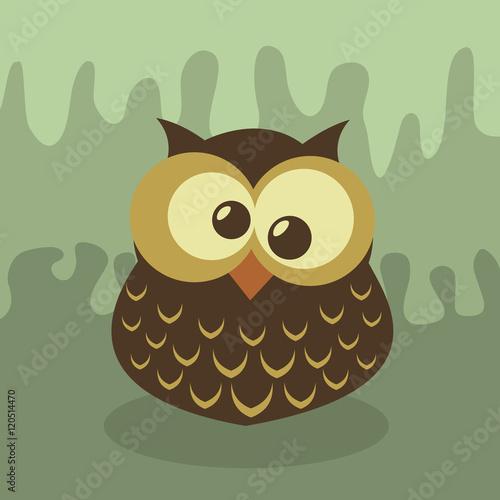 Wall Murals Birds, bees Vector Retro Owl Illustration