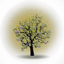 Happy Holiday, Funny Tree With...