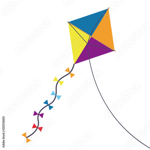 Photo Multicolored kite toy with bowties icon