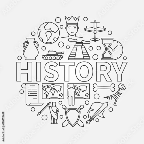 Foto  History linear illustration