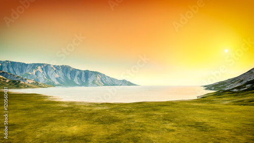 Cadres-photo bureau Jaune de seuffre nature scenery sunset background