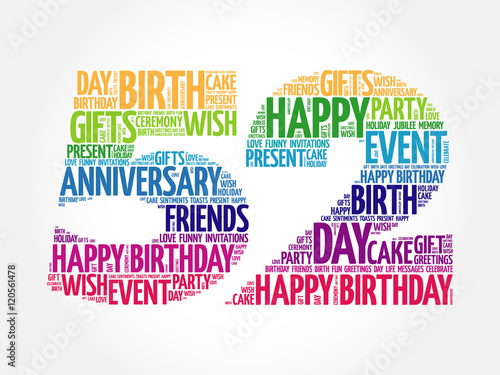 Fotografia  Happy 52nd birthday word cloud collage concept