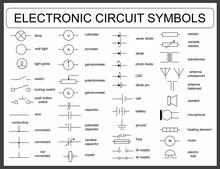 Set Of Electronic Circuit Symbols