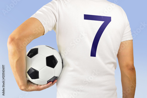 Photo  soccer football player in white team