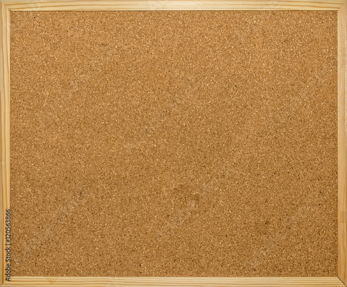 Fotografie, Obraz  Close-up of wooden pinboard with copyspace
