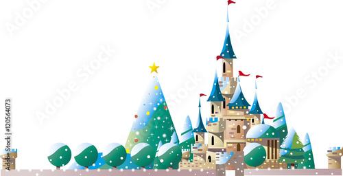 Foto op Aluminium Kasteel クリスマスのお城