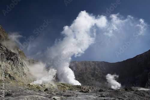 Staande foto Vulkaan Main Crater - White Island stratovolcano, New Zealand, before September 2016 eruption