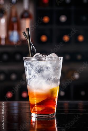 Foto op Aluminium Milkshake Red fruit cocktail
