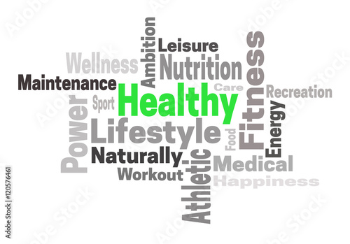 3c81fb2cd20f1 Healthy lifestyle fitness concept word cloud - Buy this stock ...
