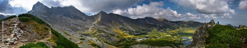 Fototapety, obrazy: Panoramic landscape of Hala Gasienicowa in Tatra mountain