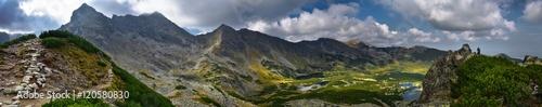 Panoramic landscape of Hala Gasienicowa in Tatra mountain