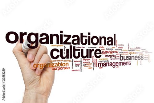 Fotografiet  Organizational culture word cloud concept