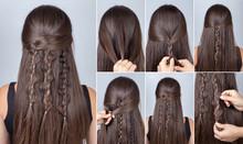 Hairstyle Three Boho Braids Tutorial