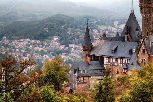 Widok na zamek Wernigerode Harz