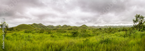 Poster Heuvel Panorama of african hills in Congo, Mountain of the Moon.