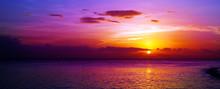 Colorful Sea Sunset.