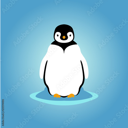 young penguin vector illustration Wallpaper Mural