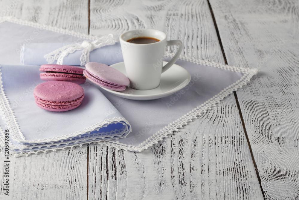 Foto-Lamellen (Lamellen ohne Schiene) - Cup of coffee serving on shabby chic background