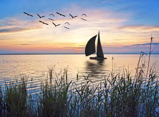 Obraz na Szkle Style velero en el mar mediterraneo