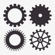 set gear wheel team work design isolated vector illustration eps 10