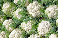 Background With Stack Of Cauliflower