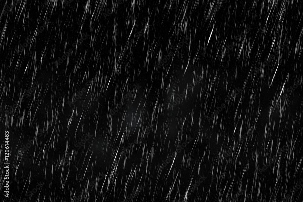 Fototapeta Rain in the Dark