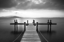 Wooden Pier On The Lake Zug, S...