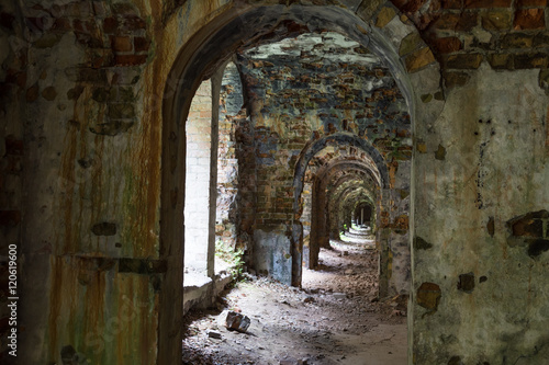 Foto op Canvas Rudnes Ruins inside the fort Tarakanovskiy. Ukraine