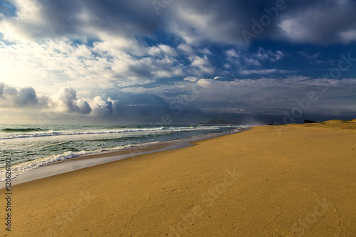 Foto op Canvas Zuid Afrika Republic of South Africa, KwaZulu-Natal province. iSimangaliso Wetland Park (Greater St. Lucia Wetlands Park) - long sandy beach near St. Lucia town (there is on UNESCO World Heritage Site since 1999)
