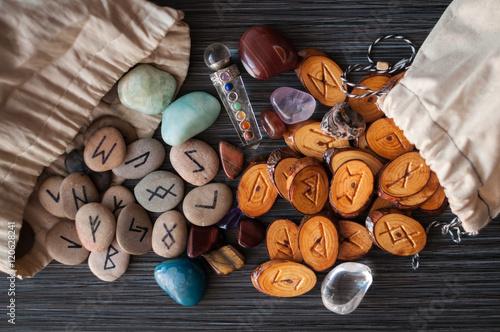 Fotografie, Obraz  magic runes with their hands