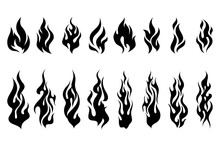 Fire Tattoo Vector Set