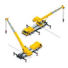 Isometric Crane, Heavy Equipment And Machinery