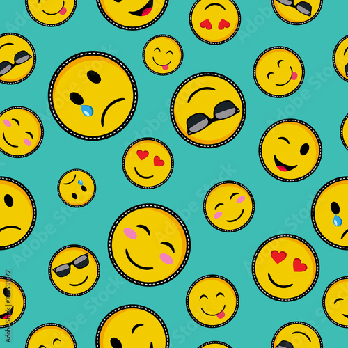 Cute emoji designs Seamless pattern Poster