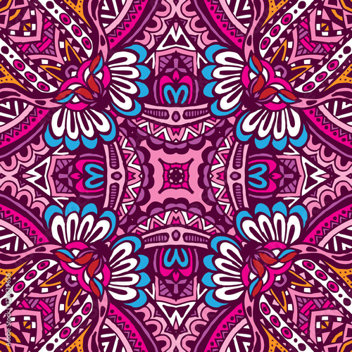 Fotografija  Abstract festive colorful ethnic tribal pattern