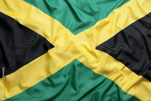 Photo Textile flag of Jamaica