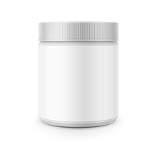 White Plastic Canister Template For Stain Remover.