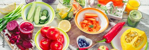 Fotomural  Healthy detox food.