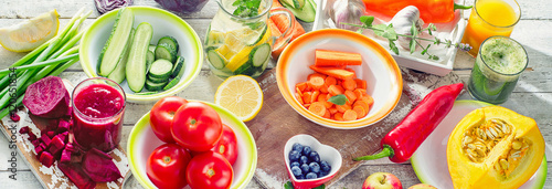 Healthy detox food.