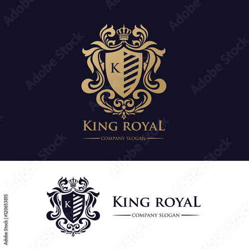 Fotografie, Tablou  King Royal Logo, Luxury Brand Identity.