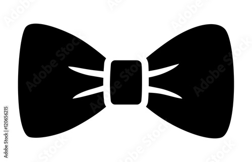 Bow tie or bowtie fashion accessory flat icon for apps and websites Fototapet