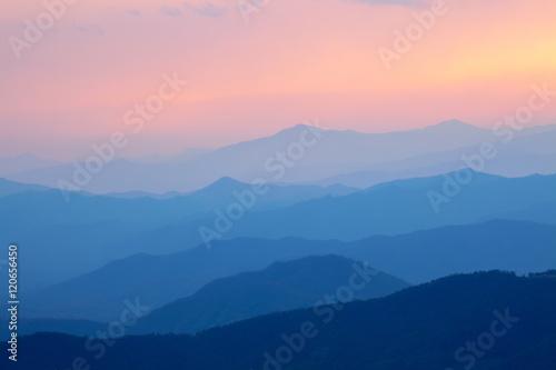 Foto auf Gartenposter Gebirge Smoky mountain sunset